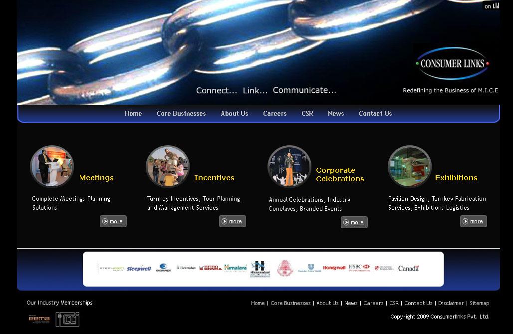 event management company website